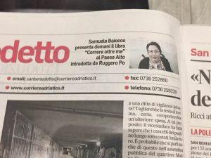 Corriere Adriatico del 22 febbraio 2018