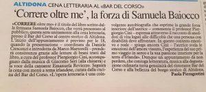 Rassegna stampa libro di Samuela Baiocco