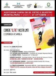 Locandina della presentazione del libro di Samuela Baiocco a Montelparo
