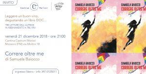 Locandina della presentazione del libro di Samuela Baiocco a Moresco