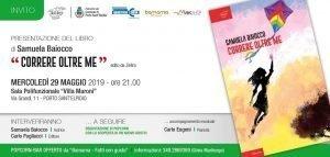 Locandina della presentazione libro di Samuela Baiocco a Porto Sant'Elpidio del 29 maggio 2019
