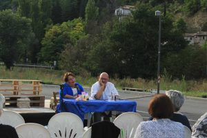 presentazione del libro di Samuela Baiocco a Pieve Torina il 15 settembre 2019