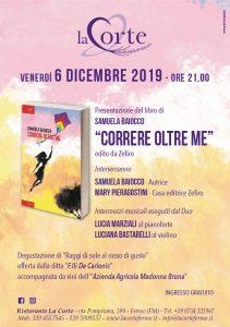 Locandina presentazione del libro di Samuela Baiocco a Fermo il 6 dicembre 2019