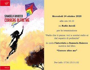 Locandina della presentazione online del libro di Samuela Baiocco del 14 ottobre 2020